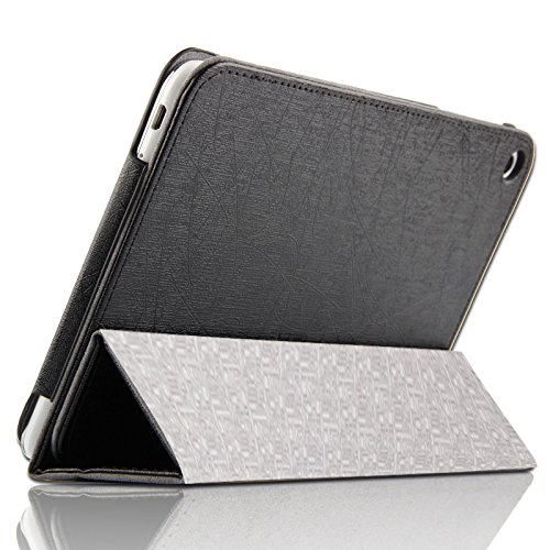 New Luxury Design Latest Leather Finish Sleeve Case Cover Flip For Lenovo PHAB Plus Tablet Phone - Black By Delhisalesmart