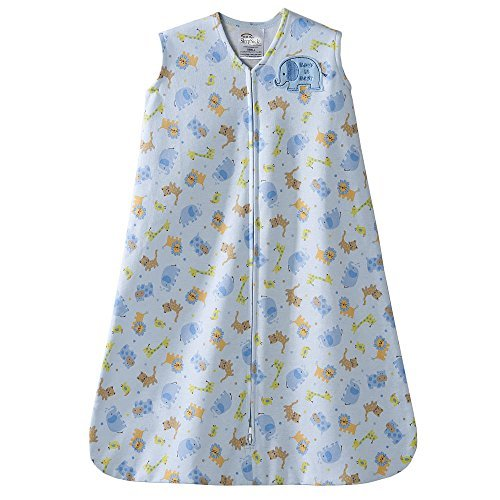 HALO SleepSack Wearable Cotton Blanket - Blue Safari Large - 1