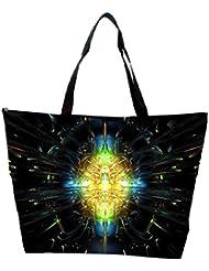 Snoogg Abstract Design Designer Waterproof Bag Made Of High Strength Nylon - B01I1KFOG0