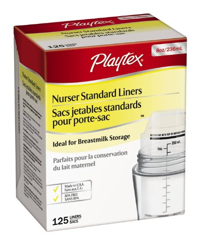 Playtex Pre-Sterilized Disposable Liners, 8 Ounce, 125-Count (Discontinued by Manufacturer)