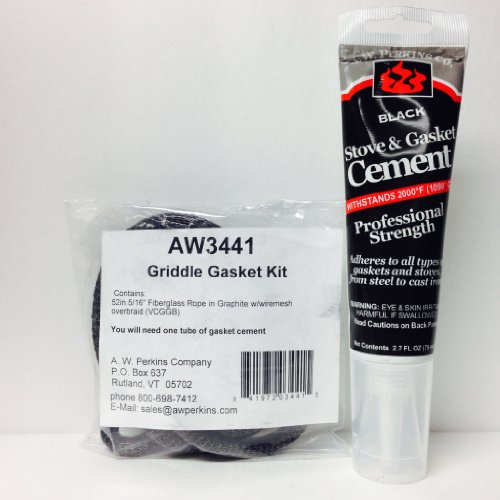 Aw 3441 Griddle Gasket, Vermont Castings Mesh Kit Complete W/ Glue Vc000-3441