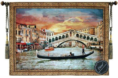 beautiful-venice-canal-gondola-fine-tapestry-jacquard-woven-wall-hanging-art-decor