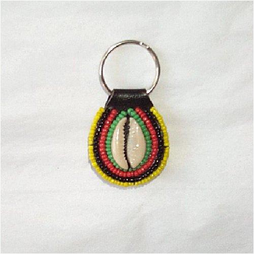 Hand Made Massai Beaded African Keyring Key Chain Holder