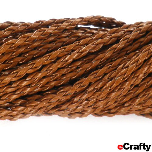 "Neck Cord Braided W/Lobster Clasp 18"" Med Brown 10Pc"