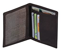 Avanco Men\'s Leather ID Card Holder 4.7 x 3.5 x 0.2 inch Dark Brown