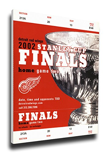 That's My Ticket 2002 NHL Stanley Cup Mega Ticket Wall Decor, Detroit Red Wings