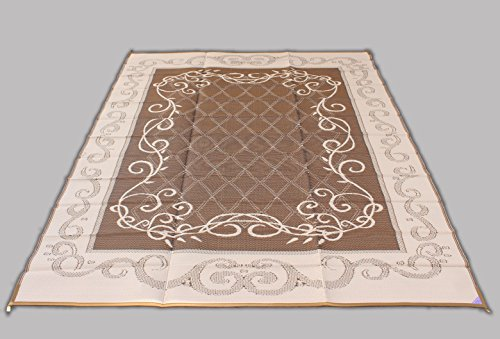 Reversible Mat Brown & Beige Patio Outdoor Camping Garden Mat (9' x 12') (Camping Outdoor Mat compare prices)