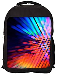 Snoogg City Light Haze Backpack Rucksack School Travel Unisex Casual Canvas Bag Bookbag Satchel
