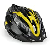 SODIAL (R)Road Bike Racing Bicycle Cycling Helmet Visor Adjustable Carbon Yellow