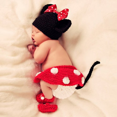 Baby Photography Props Cute Crochet Knitted Cap Dogs Costume
