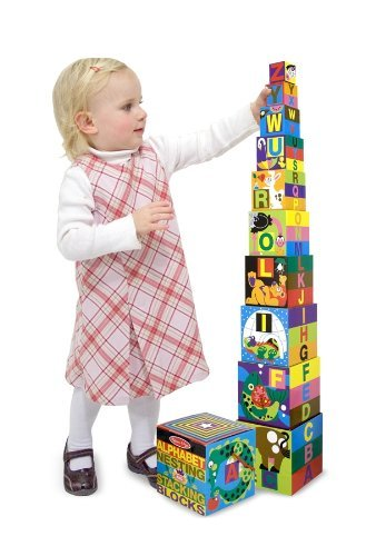 Melissa & Doug Alphabet Nesting/Stacking Blocks 10 Piece - 1