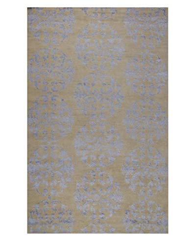 Meva Rugs Medallion Hand-Knotted Rug, Ivory, 5' x 8'