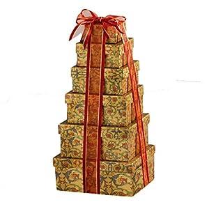 Broadway Basketeers Ultimate Holiday Christmas Gourmet Gift Tower
