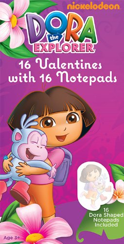 Paper Magic Dora The Explorer Valentine Exchange Cards with Bonus Notepad (16 Count)