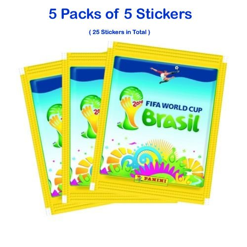 Panini World Cup - FIFA World Cup Brasil 2014 - WM Collecting Sticker (5 x Sticker Pack)