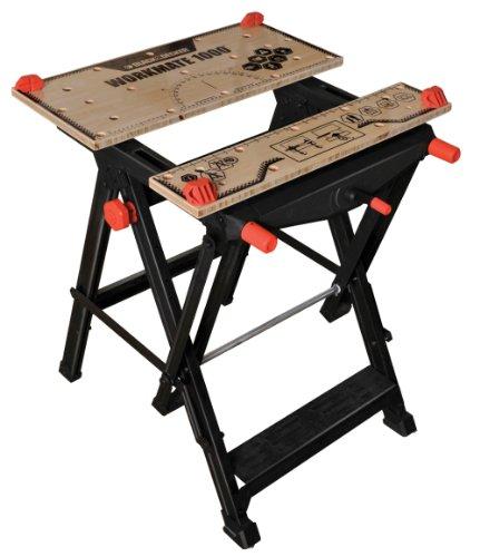 Black + Decker Workmate 1000 Spanntisch, einhändig bedienbar, Stahlkonstruktion bis 250kg belastbar, verstellbar, WM1000