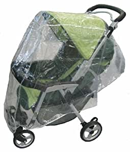 Sashas Rain and Wind Cover - Large Full Size Single Stroller - Stroller Not Included