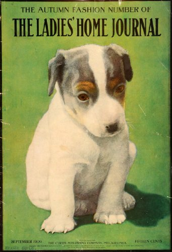1906 Cover Ladies' Home Journal Magazine September Puppy Cute Dog Frank Guild - Original Cover front-1058480