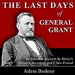 The Last Days of General Grant | Adam Badaeu