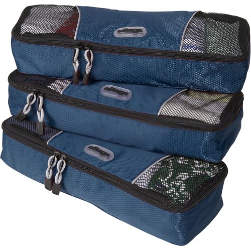 eBags Slim Packing Cubes - 3pc Set (Denim)