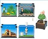 こびとづかん 飼育セット ジオラマ フィギュア 観察 入門 グッズ 食玩 カバヤ (全5種フルコンプセット)