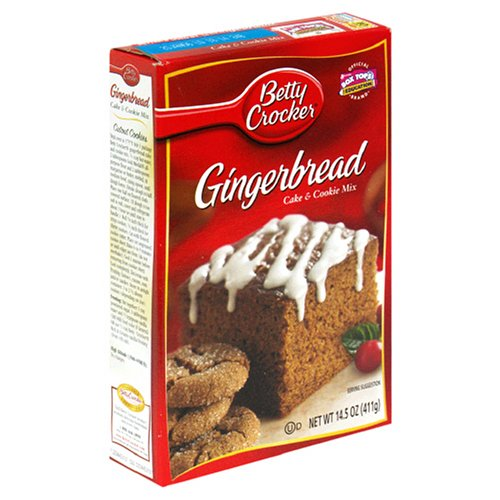 Betty Crocker Gingerbread Cake &amp; Cookie Mix, 14.5-Ounce Boxes (Pack of 12) by Betty Crocker