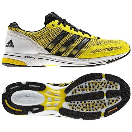 Adidas AdiZero Adios 2 G64415 Yellow Black Silver Continental Men ...