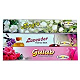 Pack Of 12 Box Agarbatties 240 Incese Sticks (4Chandan+4Lavander+4Gulab)