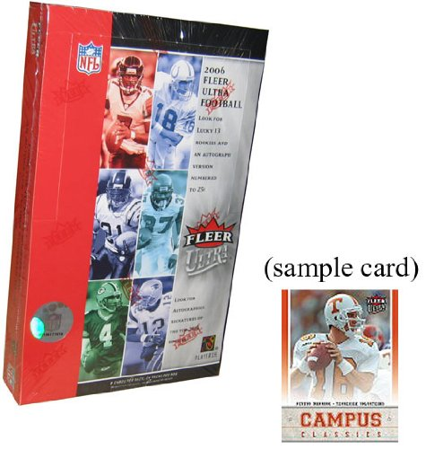 2006 Fleer Ultra Football Cards Hobby Box (24 packs/box, randomly inserted autographs, jersey cards & more) - Rookies of Reggie Bush, Matt Leinart, Vince Young & more! (Reggie Bush Rookie Card compare prices)