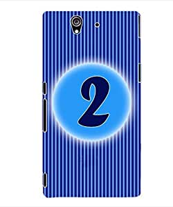 ColourCraft Numerology Number 2 Back Case Cover for SONY XPERIA Z - C6603 / C6602