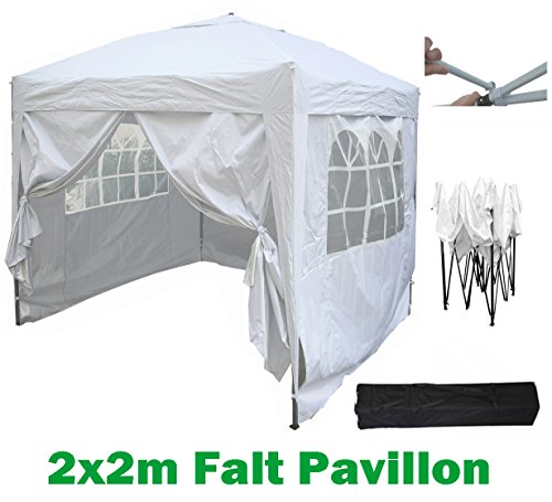 billig 2x2m gartenpavillon faltpavillon falt pavillon festzelt partyzelt komplettset in 4. Black Bedroom Furniture Sets. Home Design Ideas