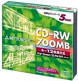 三菱化学 SW80EU5 CD-RW 700MB 5枚 スリムケース入り