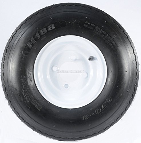 Two Trailer Tires & Rims 5.70-8 570-8 5.70 X 8 8