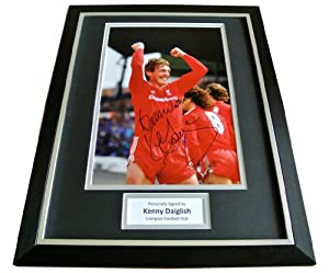 Sportagraphs KENNY DALGLISH HAND SIGNED & FRAMED AUTOGRAPH PHOTO MOUNT DISPLAY LIVERPOOL COA from Sportagraphs