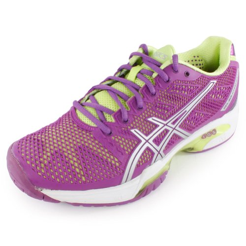 ASICS Women's Gel-Solution Speed 2 Tennis Shoe,Grape/Silver/Sharp Green,9.5 M US