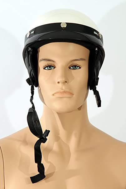 Casques de moto Demi casque TC-55 Blanc L ABS, Polycarbon Polystyrène