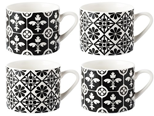 v-a-carreaux-encaustique-graduee-en-porcelaine-tasses-espresso-ceramique-noir-4-pieces