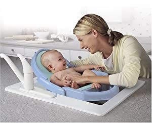 Safety 1st Space Saver Fold Up Bath Tub, Blue (Discontinued by Manufacturer)