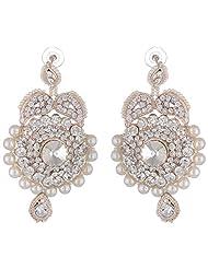 Bel-en-teno White Alloy Earring Set For Women - B00PY9YFJY