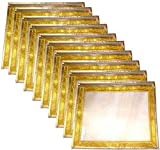 Premium Golden (with Zari Border) Saree Covers - Pack of 10