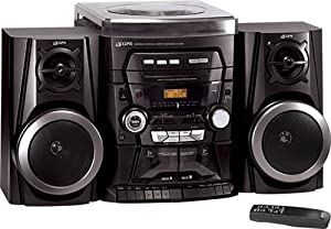 GPX HMTU3234 Stereo System with CD Player, AM/FM Stereo, Turntable, and Cassette Deck