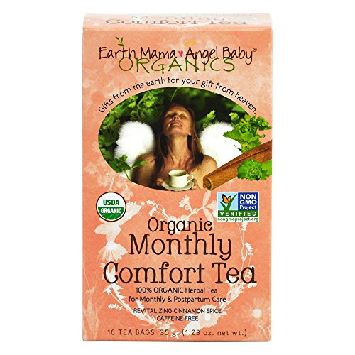 Organic Monthly Comfort Tea for Postpartum & Monthly Cycle 16 Tea Bags/Box (Pack of 3) - 1