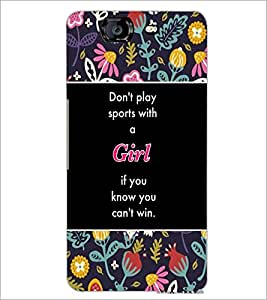 PrintDhaba Quote D-5711 Back Case Cover for MICROMAX A350 CANVAS KNIGHT (Multi-Coloured)