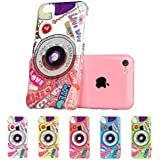 iPhone 5C Case, ESR Fancy Series iPhone 5c Case Hard Clear Case Back Cover with Cute Patterns Snap on Case (Camera)