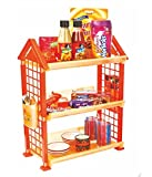 OutMad Outrake_049 Triple Shelf Foldable Storage Rack (Yellow)