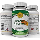 Turmeric Anti-Inflammatory Supplement - 120 capsules High Potency 450 milligrams - 95% Curcumin -Strongest - Most Effective For Natural Pain Relief - Healthy Joints. Powerful Anti-oxidant - Cleanses Digestive System - Relieves Chronic Fatigue