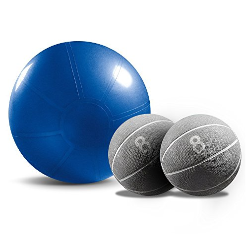 Beachbody 2 Medicine Ball & 1 Stability Ball Combo Sporting Goods Exercise Fitness Balls