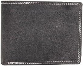 Leatherworld Geldbörse / Kreditkartenetui aus echtem geöltem Büffelleder Querformat G002 Tabak