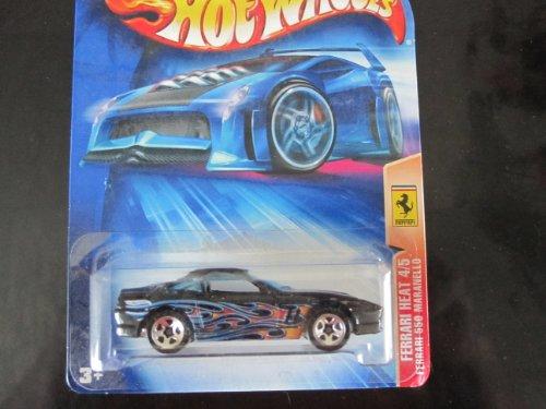 Ferrari 550 Maranello (Black w/ 5 Spoke Wheels) Hot Wheels 2004 #131 Ferrari Heat Card - 1