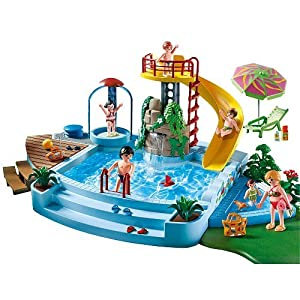 Playmobil 174 4858 Open Air Pool With Slide New 2010 Uk